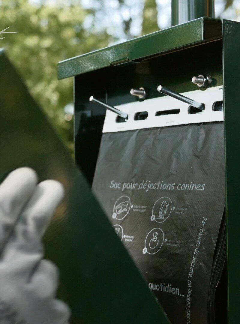 Sachets à déjection canine en plastique recyclé type liasse