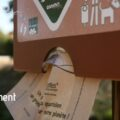 Distributeur de sachets <br>en papier biodégradable <br>gamme neutre