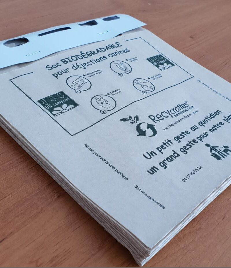 Sachet en papier biodégradable <br>et compostable type liasse