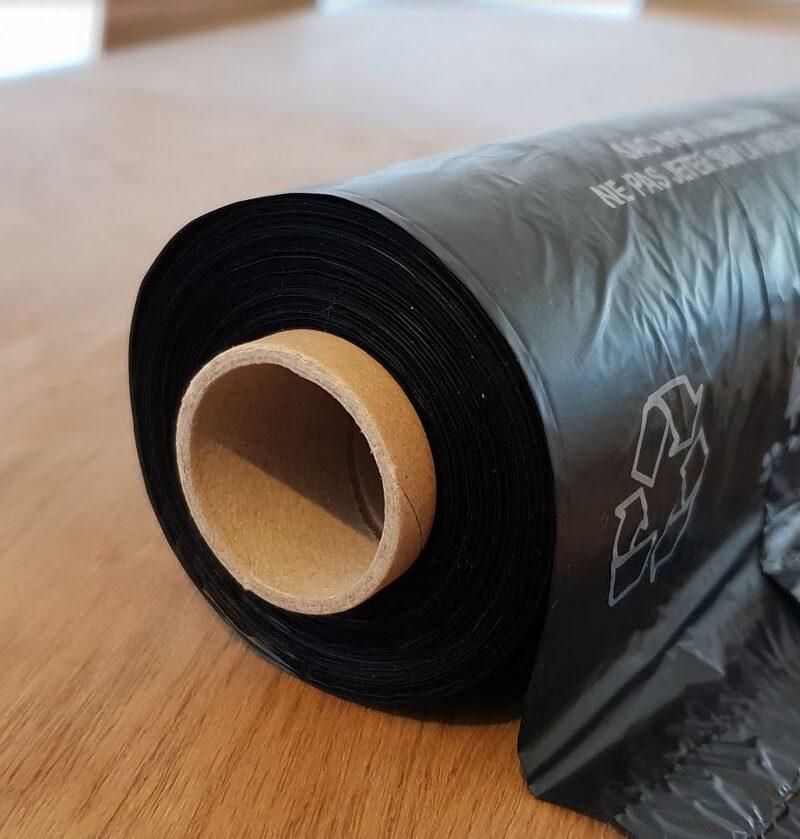 Rouleau de 200 sachets canins <br>en plastique recyclé
