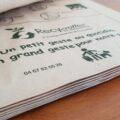 Sachet en papier biodégradable <br>et compostable type liasse